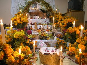 The blooms of Marigolds or Calendula Blossoms are present in many Dia De Los Muertos Altars.